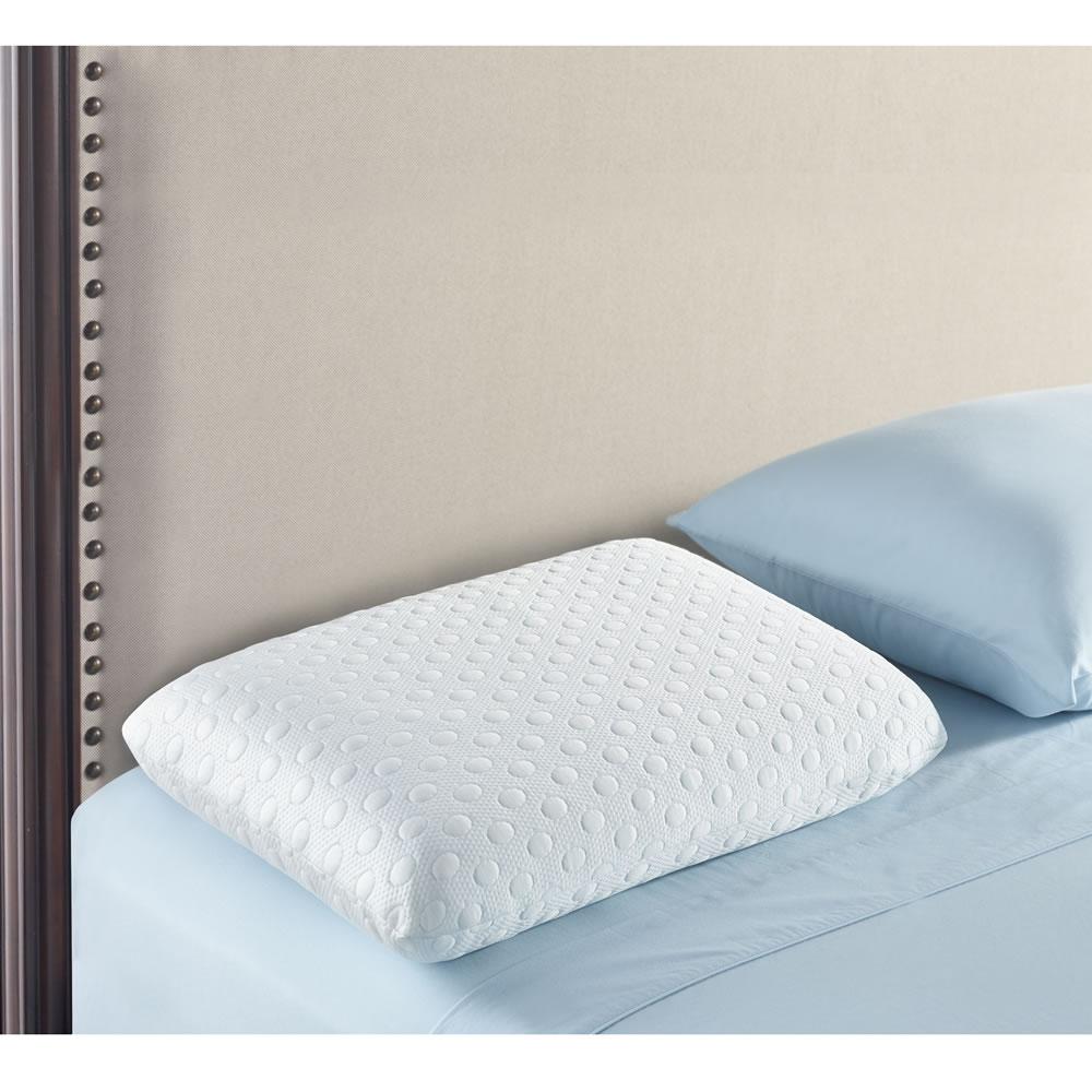 The Cool Contact Memory Foam Pillow Hammacher Schlemmer