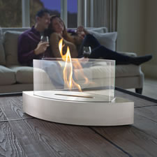 The Elliptical Tabletop Fireplace