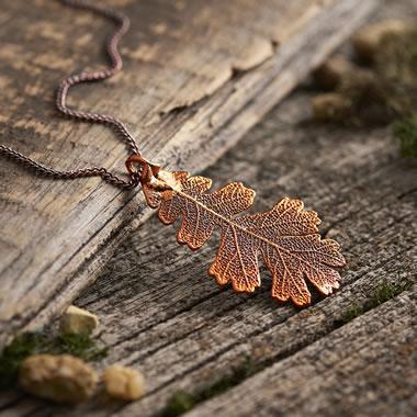 The Briton's Gilded Oak Leaf Pendant