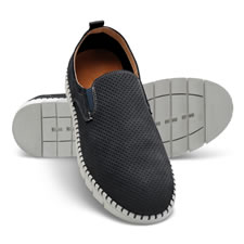 The Gentleman's Breathable Comfort Leather Slip Ons