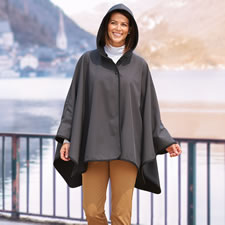 The Water And Wind Repelling Reversible Hooded Cape