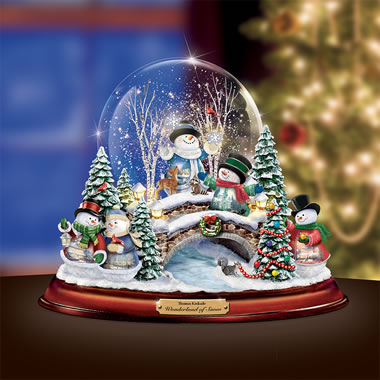 The Thomas Kinkade Winterland Snow Globe