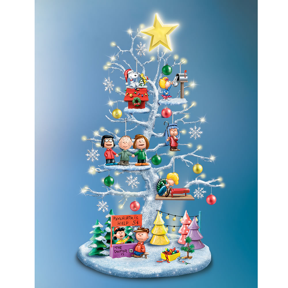 The Peanuts Illuminated Christmas Tree Hammacher Schlemmer