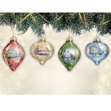 The Thomas Kinkade Illuminated Ornament Set