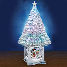 The Thomas Kinkade Illuminated Snowglobe Tree