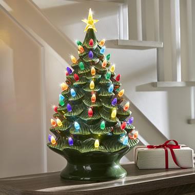 Ceramic Christmas Tree.The Classic Ceramic Christmas Tree