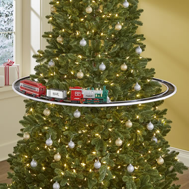 The Elevated Christmas Tree Train