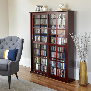 The Aficionado's Sliding Door 1,044 CD/468 DVD Library