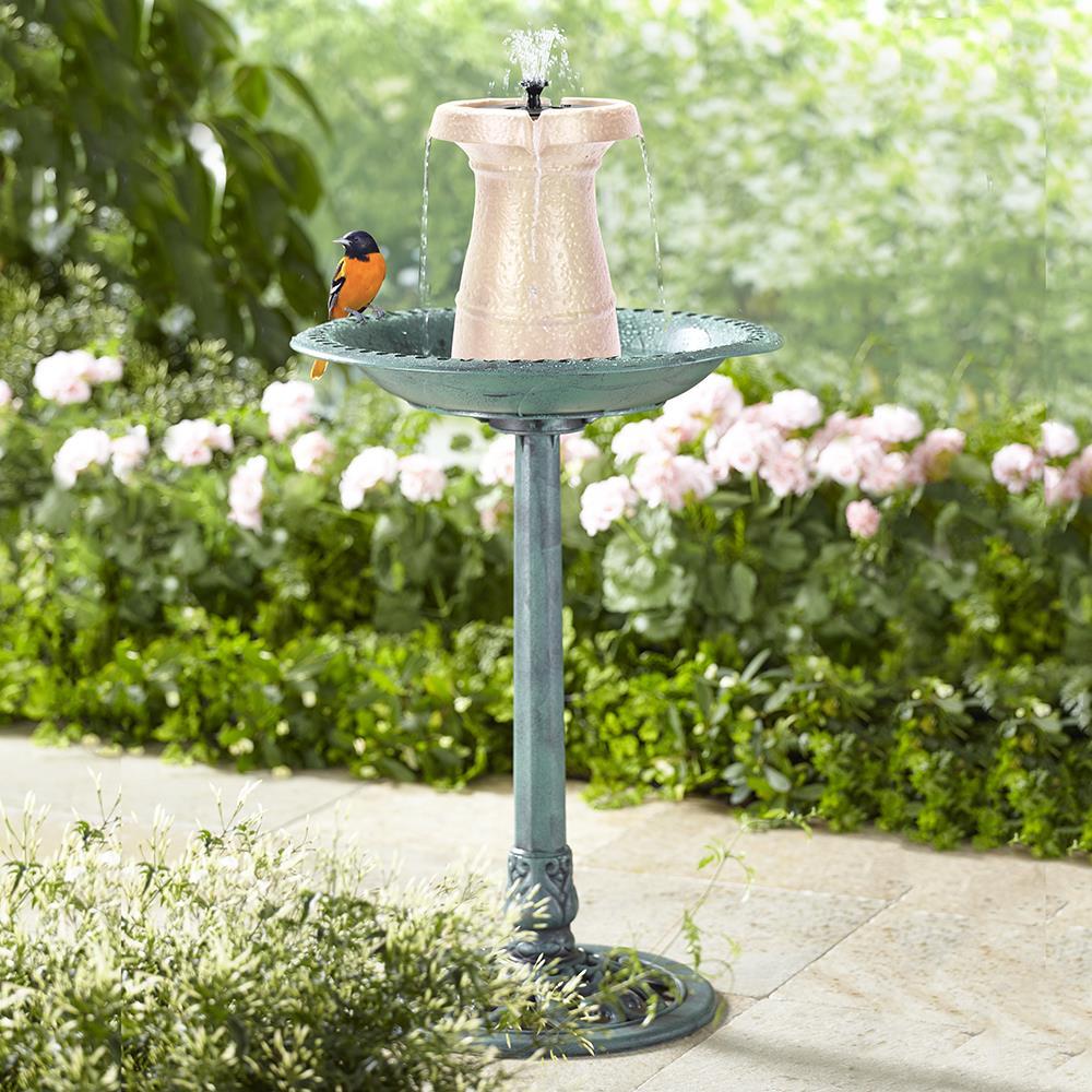 The Cordless Birdbath Fountain - Hammacher Schlemmer