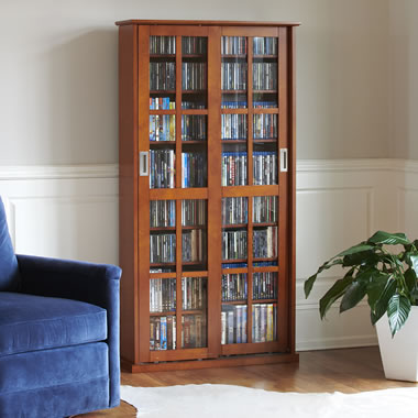 The Aficionado's Sliding Door 666 CD/300 DVD Library