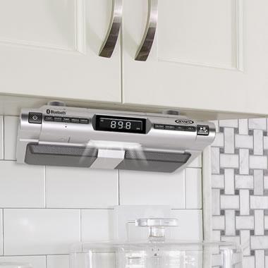 The Under Cabinet Bluetooth Clock Radio