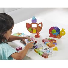 The 49 Piece Wooden Animal Puzzle Learning Set