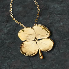 The Gilded Four-Leaf Clover Necklace