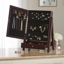 The Mirrored Tabletop Hidden Jewelry Cabinet