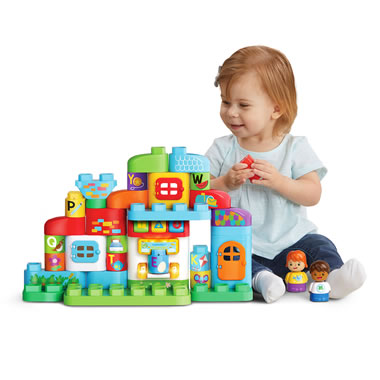 The Build And Learn ABC Talking Blocks Toy