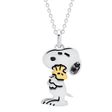 The Snoopy And Woodstock Hugs Pendant