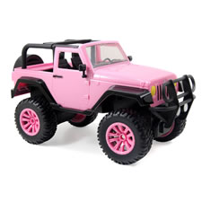The RC Pink Jeep Wrangler