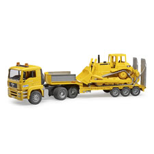 The Caterpiller Bulldozer With Low Loader Truck