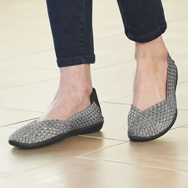 The Woven Stretch Comfort Flats