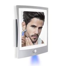 The Fogless Lighted Shaving Mirror