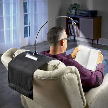 The Cordless Recliner Reading Lamp