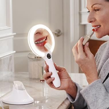 The Handheld Lighted Vanity Mirror