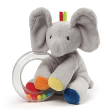 The Plush Bunny Or Elephant Baby Rattle