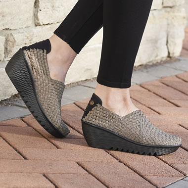 The Woven Stretch Comfort Wedges