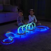 http://www.hammacher.com - The Luminous Loop-De-Loop Speed Track 79.95 USD