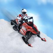 http://www.hammacher.com - The RC Snowmobile 129.95 USD