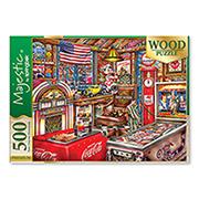 http://www.hammacher.com - The 500 Piece Coca Cola Wooden Puzzle 19.95 USD
