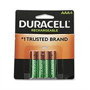http://www.hammacher.com - 4 Pack of Rechargeable AAA Batteries 19.95 USD