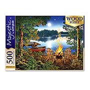 http://www.hammacher.com - The 500 Piece Fireside Wooden Puzzle 19.95 USD