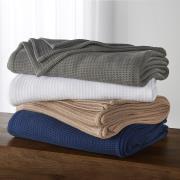 http://www.hammacher.com - The Genuine Turkish Cotton Waffle Blanket 99.95 USD