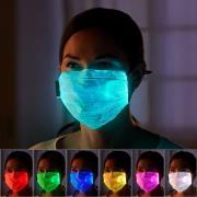 http://www.hammacher.com - The Lightshow Face Mask 29.95 USD