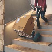http://www.hammacher.com - The Stair Climbing Hand Truck 149.95 USD