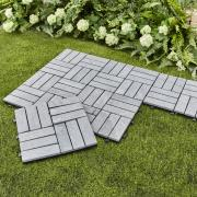 http://www.hammacher.com - The Interlocking Stone Deck Tiles 59.95 USD
