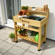 http://www.hammacher.com - The Elevated Potting Bench 279.95 USD