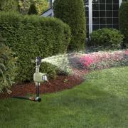 http://www.hammacher.com - The Animal Repelling Sprinkler 59.95 USD