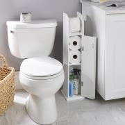 http://www.hammacher.com - The Tight Space Bath Tissue Cabinet 69.95 USD