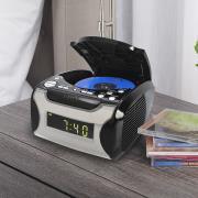 http://www.hammacher.com - The CD Playing Clock Radio 79.95 USD