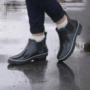 http://www.hammacher.com - The Women's Slip On Waterproof Boots 129.95 USD