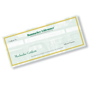 Can't decide? Send the gift that lets them choose for themselves: a Hammacher Schlemmer Gift Certificate, available in any of the denominations listed below. Easy to redeem through our catalog, in our stores or online, and standard delivery is free to the destination of your choice. Your gift certificate will arrive blank to allow you to customize it with the name of your intended recipient.To ensure Christmas delivery of gift certificate, order by December 11th.