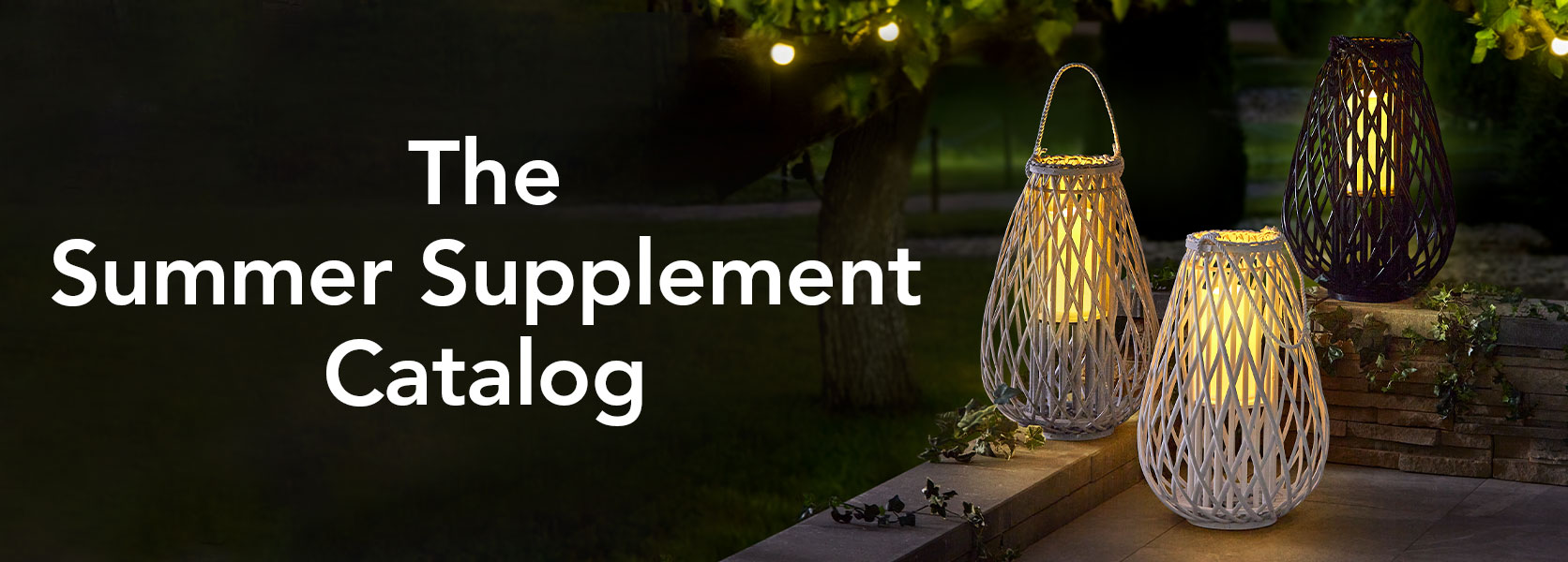 The Solar Candle Wicker Lantern