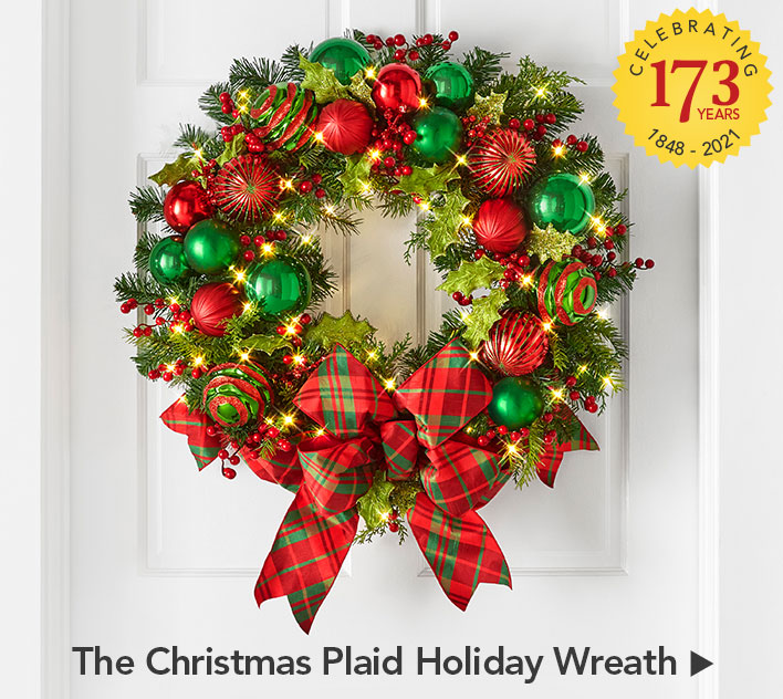 The Cordless Prelit Christmas Plaid Holiday Trim