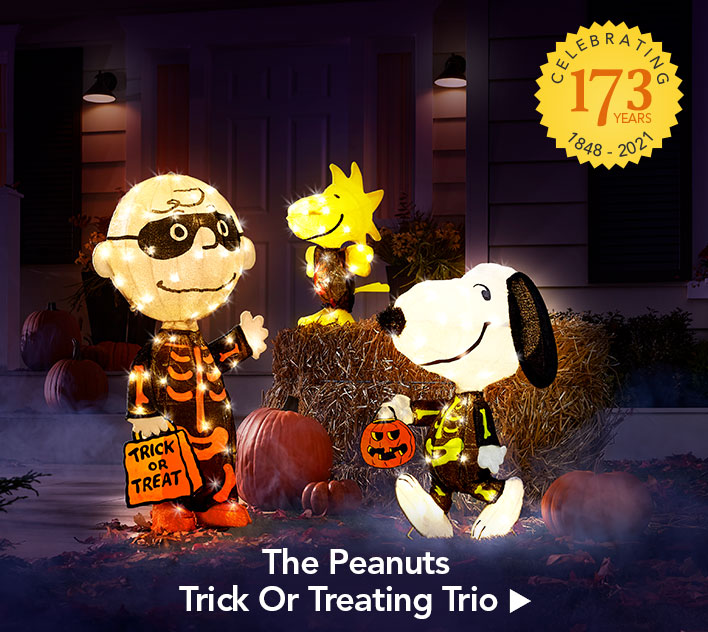 The Peanuts Trick Or Treating Trio